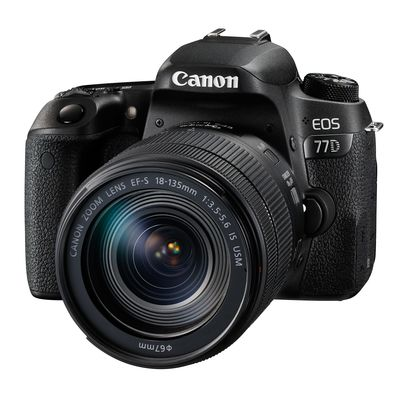 Canon EOS 77D Kit inkl EF-S 3,5-5,6/18-135 mm IS USM