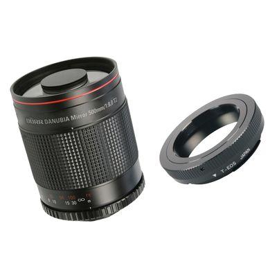 Dörr Spiegel-Tele 500mm f/8,0 mit T2 Adapter Canon EF
