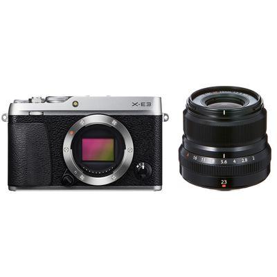 Fujifilm X-E3 + XF 2,0/23 mm WR Fujifilm X silber-schwarz