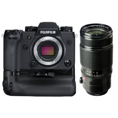 Fujifilm X-H1 + XF 50-140 mm f2,8 LM OIS WR + VPB-XH1 Batteriegriff Fujifilm X