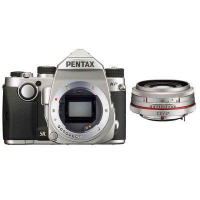Pentax KP,DA 3,2/21 HD AL Limited silber