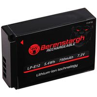 Für weitere Info hier klicken. Artikel: Berenstargh Akku Canon LP-E12 EOS 100D M
