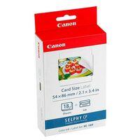 Für weitere Info hier klicken. Artikel: Canon KC-18 IF Papier + Farbband im Kreditkartenformat für Selphy Drucker