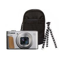 Zum Vergrößern hier klicken. Artikel: Canon PowerShot SX740 HS Travel Kit silber