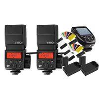 Für weitere Info hier klicken. Artikel: Godox 2x Speedlite Ving V350F + X PRO-F Transmitter für Fujifilm + Farbfiltersets