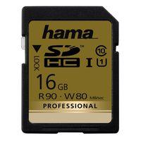 Für weitere Info hier klicken. Artikel: Hama Professional, SDHC, UHS-I, Class 10, U1, 90 MB/s 16 GB