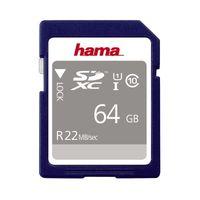 Für weitere Info hier klicken. Artikel: Hama SDXC-Card SDXC, Class 10, UHS-I, U1, 80MB/s 64 GB
