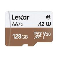 Für weitere Info hier klicken. Artikel: Lexar Professional, microSDXC 667x, Class 10, UHS-I, U3, A2, V30, 100MB/s 128 GB
