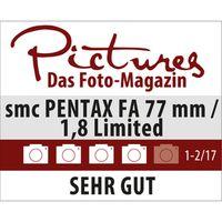 Pentax SMC FA 77mm f/1,8 Limited Pentax K Vollformat schwarz