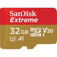 Für weitere Info hier klicken. Artikel: SanDisk extreme, microSDHC, Class 10, UHS-I, U3, A1, V30, 100MB/s + Adapter mobile 32 GB