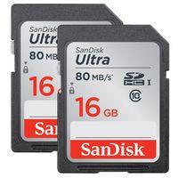 Für weitere Info hier klicken. Artikel: SanDisk Ultra, SDHC, Class 10, UHS-I, 80MB/s 16 GB 2er-Pack