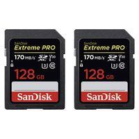 Für weitere Info hier klicken. Artikel: SanDisk Extreme Pro, SDXC Video Speed, Class 10, UHS-I, U3, V30,170MB/s 128 GB 2er Pack
