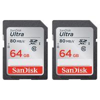 Für weitere Info hier klicken. Artikel: SanDisk Ultra, SDXC ,Class 10, UHS-I, 80MB/Sec 64 GB 2er-Pack