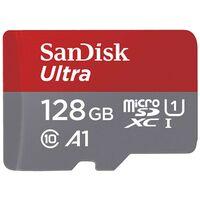 Für weitere Info hier klicken. Artikel: SanDisk Ultra, microSDXC, Class 10, UHS-I, U1, A1, 100MB/s + Adapter 128 GB