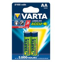 Zum Vergrößern hier klicken. Artikel: Varta Akku AA Mignon Ready2Use 2100mAh 2er-Pack