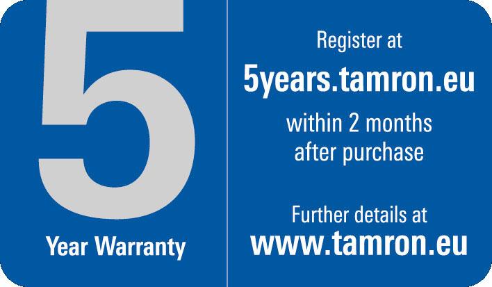 5 Jahre Tamron Garantie